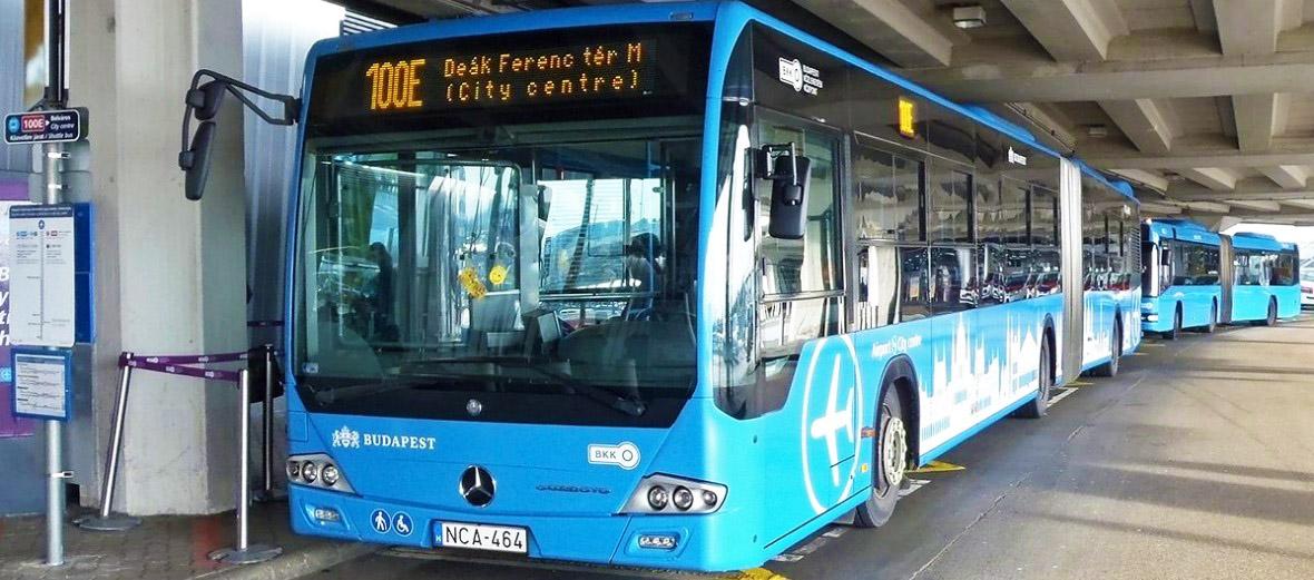 Автобус из аэропорта до центра Будапешта